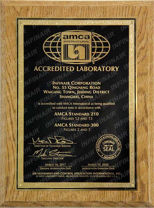 AMCA accredited lab
